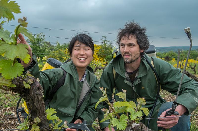 Jean-Yves BARDIN, Mai et Kenji Hodgson, vigneron, bio, vin nature, biodynamie, vin, wine, photographie, photography