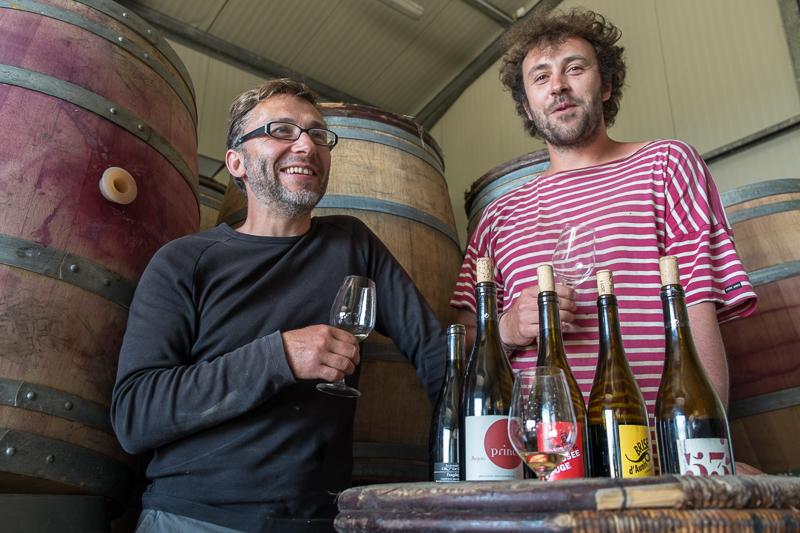 Jean-Yves BARDIN, Marc Houtin et Julien Bresteau, La Grange aux Belles, vins d'anjou, vigneron bio, vigneron d'anjou, vin de loire, wine