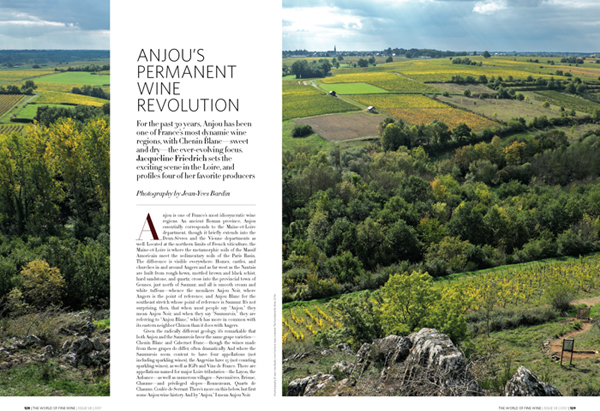 The World of Fine Wine issue 58 - Jean-Yves Bardin photography, Anjou permanent wine revolution www.jybardin.wordpress.com