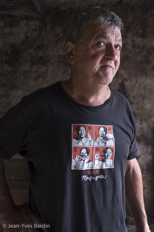 Jean-Marie Puzelat, Clos du Tue Boeuf, gueules de vignerons, vignerons de Loire, vigneron bio, organic wine, winemaker, Jean-Yves bardin photographe