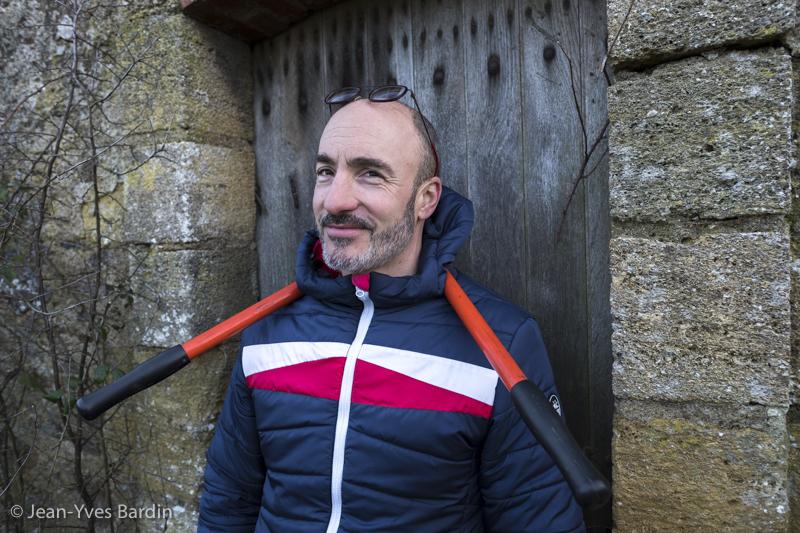 Stéphane Rocher, la ferme du Mont Benault, vigneron, biodynamie, winegrower - portrait, vin nature, bio, gueules de vignerons, vigneron bio, vignerons d'Anjou, Jean-Yves Bardin photographie